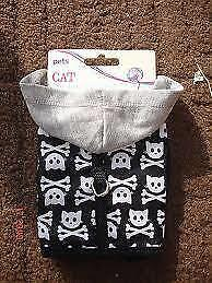 Pets At Home Black/white/grey Hoodie Skull Harness (Brand New)