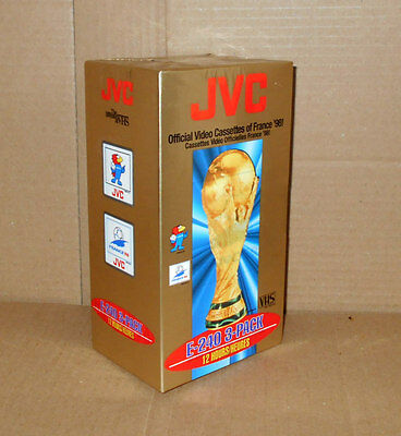 *FRANCE 98* 3 Pack sealed JVC E-180 / 3 hours blank - VHS video tapes NEW