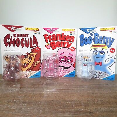 Kubrick General Mills Monster Figures-Boo Berry, Count Chocula, Frankenberry