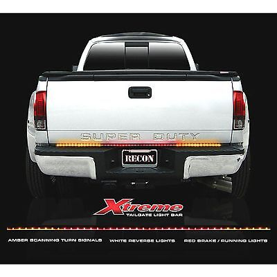 """RECON 26416X 60"""" Xtreme Red-White-Amber Tailgate Light Bar LED"""