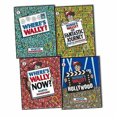 Where's Wally Classic Collection of 5 Large Different Hand Books by M Handford