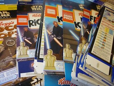Star Wars Cereal Packets Boxes Kellogg's Phantom Menace Large Choice Late 1990s