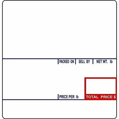 CAS LST-8020 Scale Label, 58 x 60 mm, UPC/Ingredients 12 rolls of 500 labels