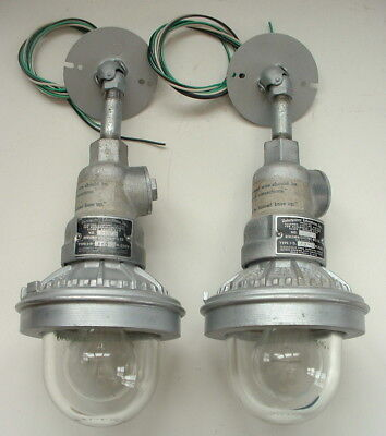 (2) Benjamin Industrial Explosion Proof Factory Pendant Light Ceiling Lamp VTG