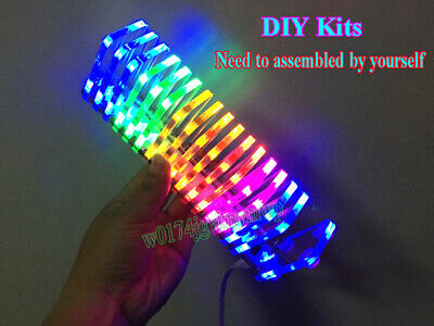 KS16 Fantasy Crystal LED Music Spectrum Level Display DIY Kits Audio VU Meter