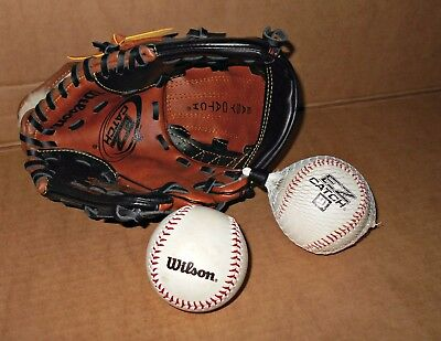 *new* 10 '' Left Handed '' Wilson '' ( Easy Catch ) Base Ball Glove Mitt + Ball