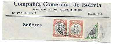 Bolivia - Bisected Stamps - 1900/20 - 16/17 - on piece