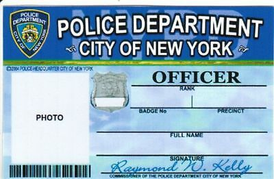 Officer of Police Department City of New York Dienstausweis