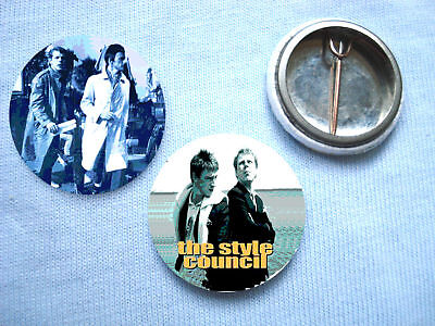 Style Council - 2 Badges Mods Paul Weller Oasis The Jam
