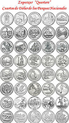 38 37 36 2017 35 2016 Todos Cuarto Dolar Parques Usa P D S All Quarters Dollar