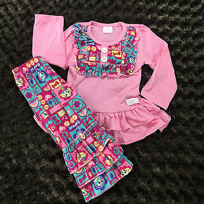 Sweet Girls Paw Patrol Girls Size 12-18M Pink Long Sleeve Shirt w/ Ruffle Pants