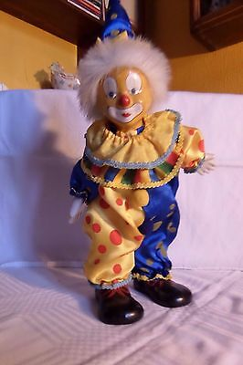 figurine clown musical articulé