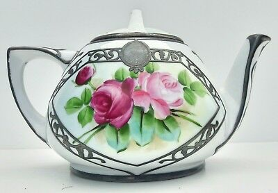 Vintage O. & E.G. Royal Hand Painted Teapot With Lid Austria