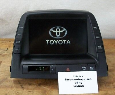 2006-2009 TOYOTA PRIUS MFD INFO DISPLAY SCREEN 86110-47220 w/ BACK UP CAMERA