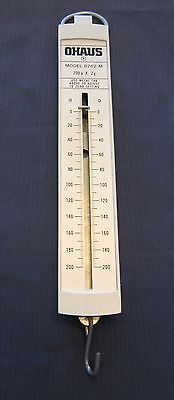OHAUS MODEL 8262-M HANGING PULL SPRING TYPE SCALE 200g