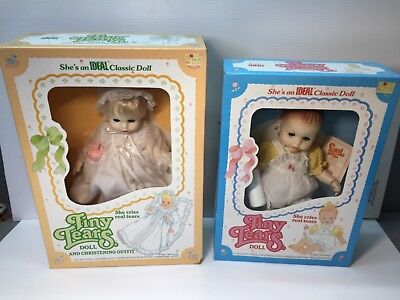Lot Of 2 Ideal Tiny Tears Doll Vintage Sealed In Box