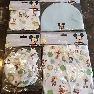 VINTAGE DISNEY Babies MICKEY Mouse BABY LOT (4) LAYETTE♡♡NWT