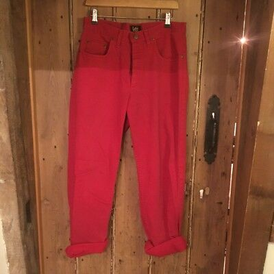 Vintage High Waisted Red Lee Jeans