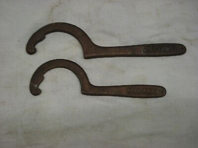 PAIR of early JACUZZI Keyed Notched T101B T101C PUMP WRENCH Semi Circlular