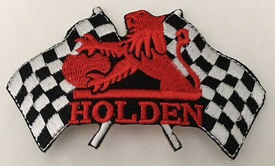 Embroidered  cloth patch ~ Holden Racing Flags ~      C030901   -