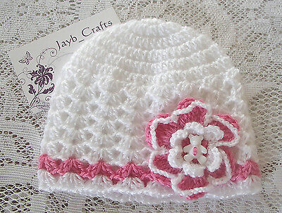 Handmade Crochet Baby Hat  in Patons baby 4 ply F#08