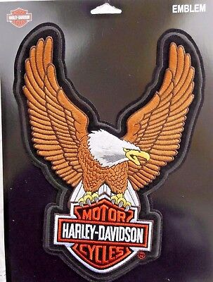 """Harley Davidson Bar And Shield Eagle Sew On Embroidered Patch Licensed 7"""" x10.5"""""""