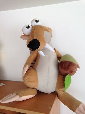 Ice Age Squirrel Scrat Toy With Nut 55x28 cm