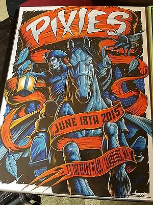 Pixies Poster 6/28/2015 Cambridge MA Signed & Numbered #/50