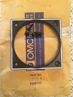 Antique Outboard New Part OMC Gauge Frame 3.5 OD x 3 1/4 ID PART #171861 0171861