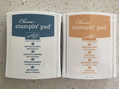 Stampin' Up! Not Quite Navy, More Mustard Ink Pad - NEW