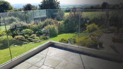 Frame less Balustrade Channel system kit including Toughened or Laminated Glass