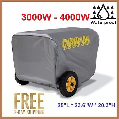 Generator Cover for Champion 3000W-4000W Portable Weatherproof Durable Vinyl New