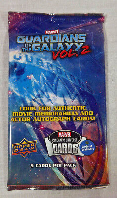 Marvel Guardians of the Galaxy Vol 2 Upper Deck Walmart exclusive Trading Cards