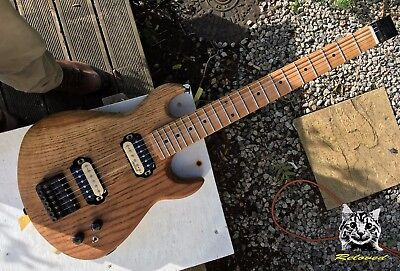 Headless electric travel guitar 'Oakcaster #19' from Reloved Guitars 1mm action