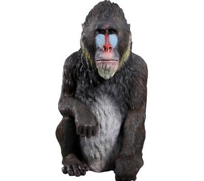 Monkey Mandrill Gorilla Ape Life Size Resin Statue Safari Theme Decor Display