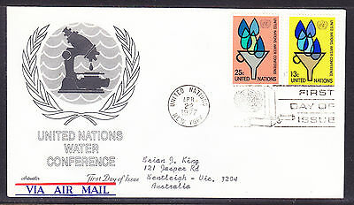 "United Nations ""Artmaster"" 1977 - Water Conference  FDC  addressed"