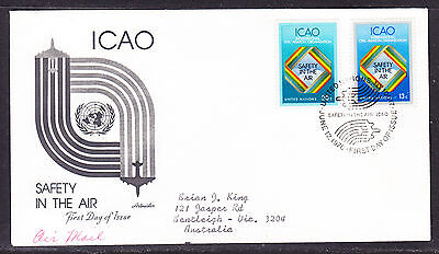 "United Nations ""Artmaster"" 1978 - Safety in the Air FDC  addressed"