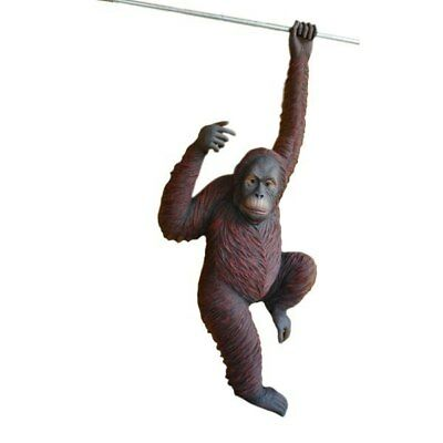 Orangutan Ape Gorilla Hanging Life Size Resin Statue Jungle Theme Decor Prop