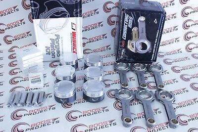 Wiseco Piston Set 84.5mm 8.8 CR & Max Speeding H-Beam ForgedRods for BMW M52B25