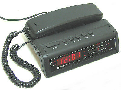 vintage CURTIS CRT2800 Telephone / Alarm Clock / AM, FM  Radio  Works Perfectly!