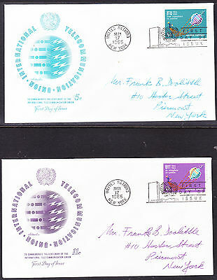 "United Nations ""Artmaster"" 1965 - I.T.U. TWO  FDC  addressed"