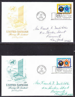 "United Nations ""Artmaster"" 1968 - Secretariat TWO  FDC  addressed"