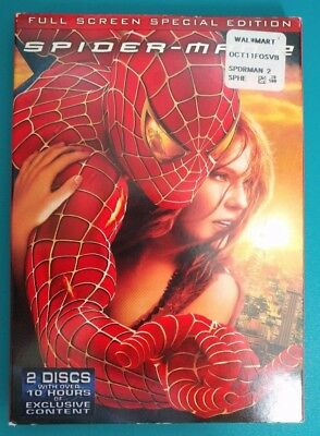 SPIDER-MAN 2 Full Screen Special Edition 2-Disc DVD Like New