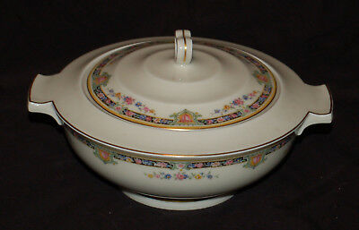 (1) Theodore Haviland France Round Covered Serving Bowl Schleiger 1258?