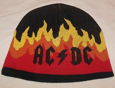 AC/DC Highway To Hell BEANIE HAT Flames Fire Stocking Cap by Concept One