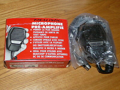Vintage 1970's REALISTIC Pre-Amplified Microphone # 21-1171 - NEW IN THE BOX !!
