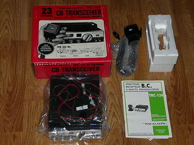 Vintage 1970's REALISTIC TRC-124 CB Transceiver 23 Channel - NEW IN THE BOX !!
