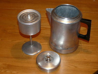 Vintage Stove Top Aluminum Comet 9 Cups Percolator - Made in USA