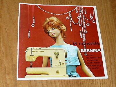 Vintage French Bernina Record 730 Booklet - Flyers