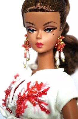 Palm Beach Coral Silkstone Collector Barbie Doll, Mint Nrfb